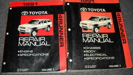 1991 TOYOTA 4RUNNER Service Shop Repair Workshop Manual Set OEM DEALERSHIP  - $138.59