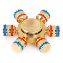 6 Side Fidget Hand Spinner Finger Brass Toy EDC Focus ADHD Autism Stress Relief - $7.71