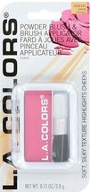 L.A. Colors Powder Blush with Applicator Brush BSB341 Sweet Cheeks - $5.99