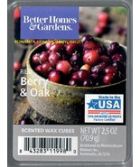 Red Berry Oak Better Homes and Gardens Scented Wax Cubes Tarts Melts Candle - $3.50