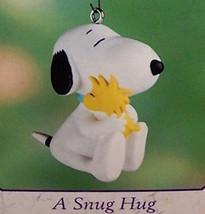 Hallmark 2000 A Snug Hug Snoopy Woodstock Peanuts Spring Easter Ornament - $19.95