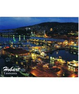 Australia Postcard Tasmania Hobart Docks At Night - $3.79