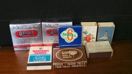 Mixed Lot of Vintage Wooden Match Stick Boxes and Match Books - $14.86
