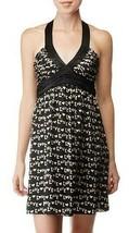 $375 Betsey Johnson Sexy Love Print Silk Mini Halter Dress 4 - $120.00