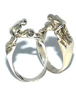 New Sterling Silver Kama Sutra Doggy Style Ring - Hot Sensual Jewelry Be... - $29.99