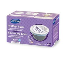 The Original Carebag Commode Liner with Super Absorbent Pad, 20 Liners -... - $20.18