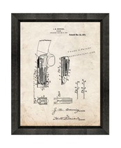 Browning Firearm Patent Print Old Look with Beveled Wood Frame - $24.95+