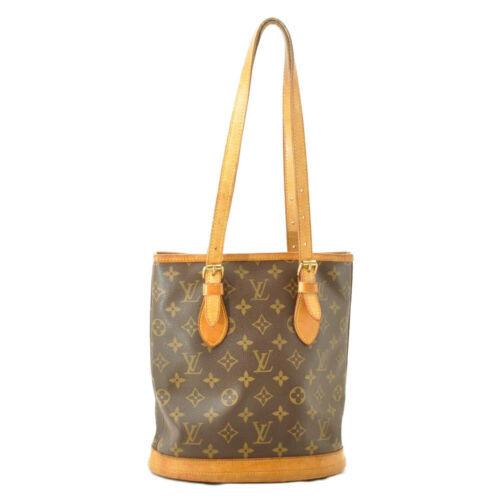 LOUIS VUITTON Monogram Bucket PM Shoulder Bag M42238 LV Auth 11122 **Sticky