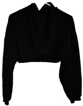 Forever 21 Black Open Bust Cut Out Front Long Sleeve Hooded Hoodie Top Size S image 2