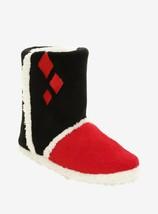 DC Comics Harley Quinn Slipper Boots Red Black Medium 7/8 Large 9/10 XL ... - $24.74