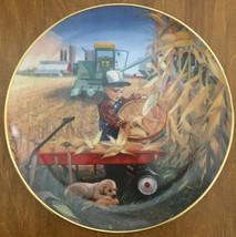 Danbury Mint Bumper Crop Plate Donald Zolan Collection Little Farmhands - $44.99