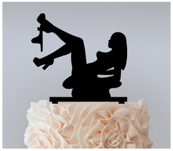 Wedding,Birthday Cake topper,Cupcake topper,silhouette Sexy on the beach 11 pcs - $20.00