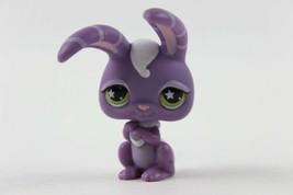 Littlest Pet Shop #828 Purple Rabbit Bunny Striped Ears & Green Star Eyes  LPS - $6.46