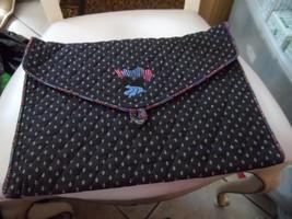 Vera Bradley black lingerie envelop pouch Indiana tags - $29.00