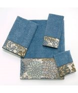 Blue Jacquard Towel Set -100% Cotton Towel Set - A Fantastic Gift Set - $56.99