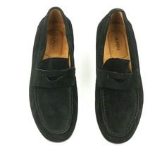 New Alfani Black Suede Slip On Sawyer Loafers Shoes 10.5**FLOOR Sample - $19.80