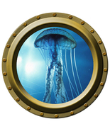 Jelly Fish - Porthole Wall Decal - $14.00