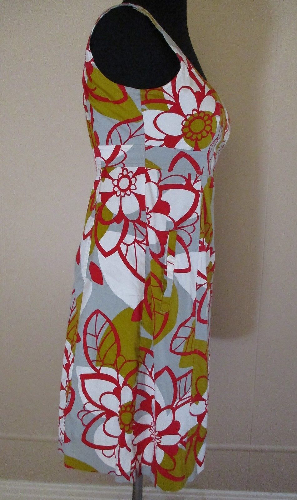 Anthropologie Maeve Dress 'Rousseau' size 2 Women floral prt cotton blend shift