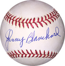 Johnny Blanchard signed Official American League Baseball (New York Yank... - $37.95
