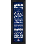 "Personalized Arizona Wildcats ""Family Cheer"" 24 x 8 Framed Print - $39.95"