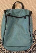 LL Bean Hunter Green Travel Organizer Hanging Toiletry Cosmetic Nylon Bag - $14.01
