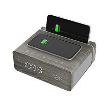 ION BLUETOOTH WIRELESS STEREO ALARM CLOCK DUAL USB QI CHARGE STATION CHA... - $111.88 CAD
