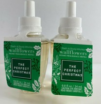 Lot Of 2 Bath & Body Works Wallflower Plug Refill .8 Fl Oz The Perfect Christmas - $18.80