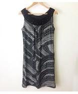 Dana Buchman Sleeveless Dress Sz Small Stretchy Beaded Crochet Neckline - $23.51