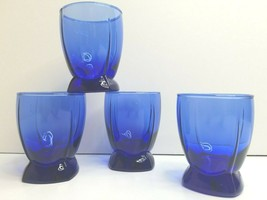 "4 Berkeley Cobalt Anchor Hocking VTG 4"" Double Old Fashioned Retro Glass... - $33.33"