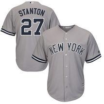 New York Yankees #27 Giancarlo Stanton Jersey Mens Gray Baseball Stitched - $39.95