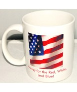 American Flag -Coffee Mug Tea Cup - Hurray For The Red White and Blue U.... - $3.95