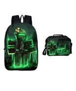 Roblox Backpack Package Series Lunch Box Schoobag Bookbag Green Light - $41.99