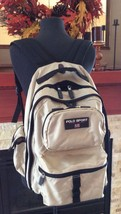 Ralph Lauren Polo Sport Large Gray Nylon Backpack Excellent Vintage Cond... - $44.55