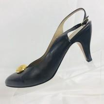 Salvatore Ferragamo Womens Gray Leather Slingback Size 9 B 5933 Made In ... - $35.63