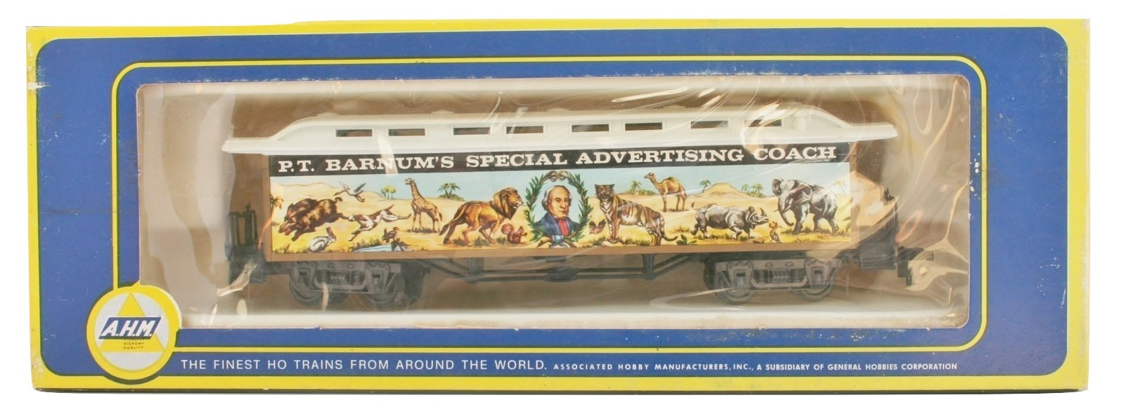 Vintage AHM Barnum Special Advertising Coach NIB 6234-B