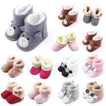 Newborn Baby Boys Girls Soft Crib Prewalker Winter Warm Snow Boots Crib ... - $7.40