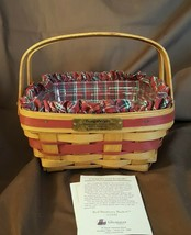 Longaberger 1993 Christmas Collection BAYBERRY Basket Fabric Liner Prote... - $24.00