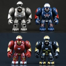 4 Style Iron Man Figure Super Hero Marvel Avengers Building Blocks Toys ... - $4.50