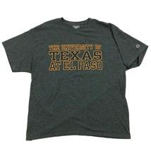 NEW Champion Mens Gray T-shirt UNIVERSITY OF TEXAS Size Extra Large El P... - $21.63