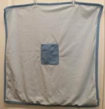 Gymboree Puppy Love Blue Fleece Blanket Pocket in middle 28 x 28 Retired... - $10.84