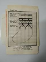 "Stocking Needlepoint Kit Lexington Lace Christmas 6"" x 6"" - $9.74"