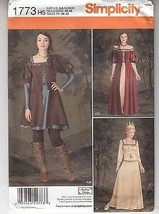 Queen Princess Knight Medievel Costumes Overdress Simplicity 1773 Sz 6-1... - $13.36