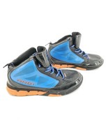 And1 Youth Boy Size 6 Basketball Hi-Top Sneaker Shoes Black Blue Orange - $32.68