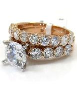 3.20CT Round Cut Diamond 14K Rose Gold Over Wedding Engagement Bridal Ri... - $114.96