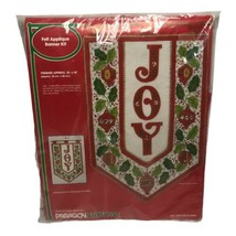 Vintage Paragon Needlecraft Christmas Joy Felt Applique Banner Wall Hang... - $64.99