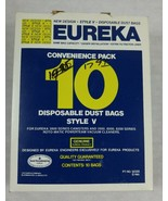 Eureka Convenience Pack 10 Disposable Dust Bags Style V #023169000148 NOS - $9.89