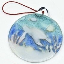 Ocean Reef Sea Turtle Fish Fused Art Glass Ornament Sun Catcher Handmade Ecuador image 2