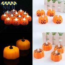 Classic Candle Lantern Pumpkin Design Small Led Durable Indoor Candle La... - $5.87
