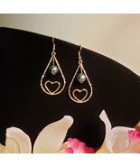 Teardrop Heart Pearl earrings - $20.00