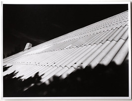 Original Vintage 1970s abstract roof, art photo, baryta paper - $22.98